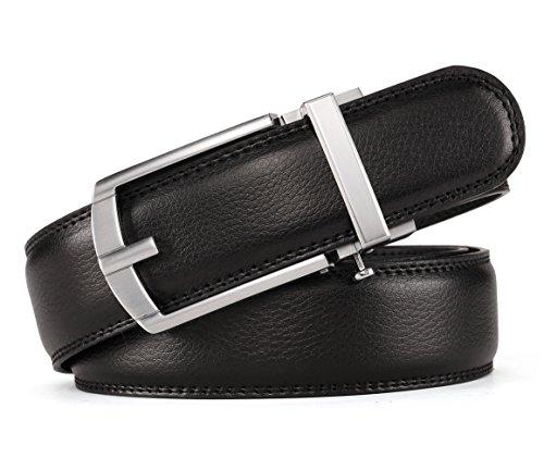 Soft Leather Buckle Belt (HW Zone belt for men Soft Leather Ratchet belt with color (waist:26-42,)