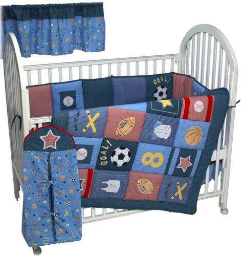 All Stars 6 Piece Crib Bedding Set (All Star Valance)