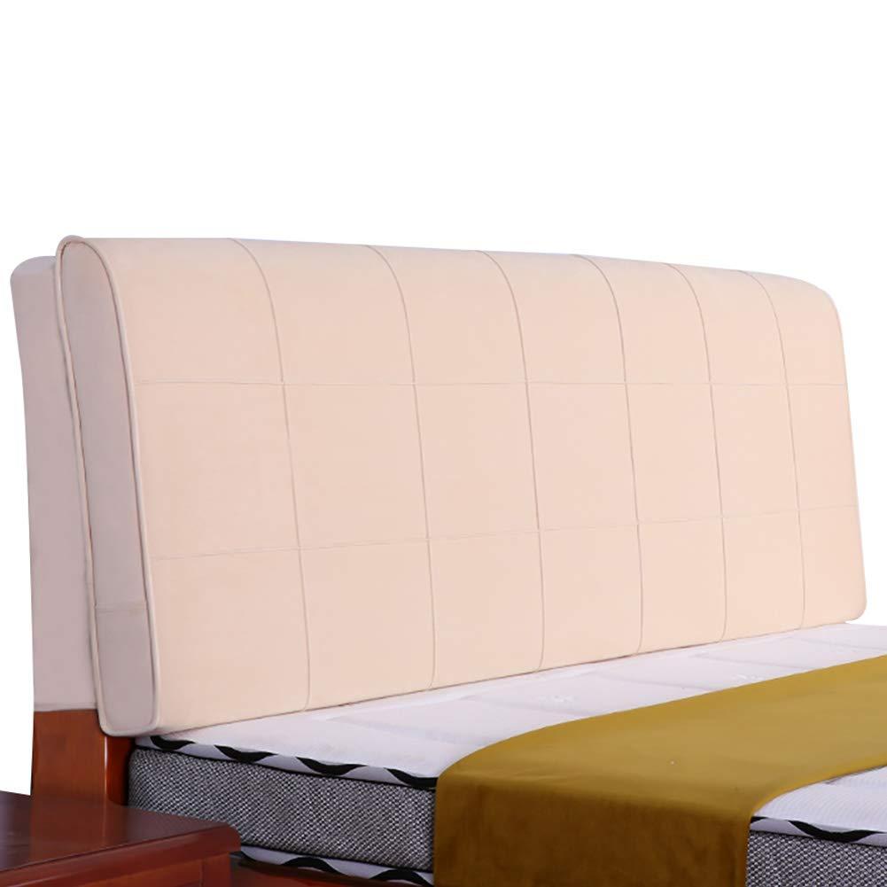 GUOWEI ベッドサイドクッション 布張り ヘッドボード ウェッジ バックレスト サポートスポンジ ピュアカラー 5サイズ 150x10x58cm ベージュ 150x10x58cm ベージュ B07MPC7C7T