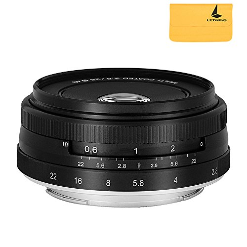 Meike MK-28mm F2.8 Large Aperture Manual Focus Lens for Olympus M4/3-mount EM1/M/M10/EP5/EPL3/PL5/PL6/PL7/PEN-7 by Meike