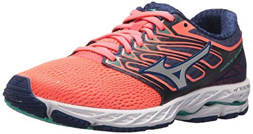 Mizuno Racing Shoes (Mizuno Running Women's Wave Shadow Shoes, Fiery Coral/White, 10.5 B US)