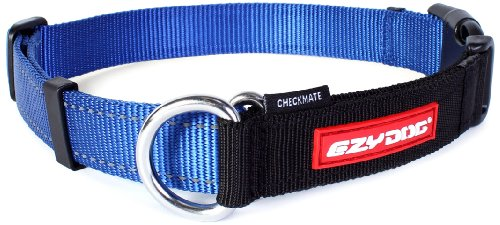EzyDog Checkmate Collar, Extra Large, Blue