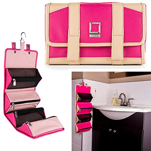 lencca-stowaway-collection-womens-roll-up-hanging-cosmetic-grooming-travel-bag
