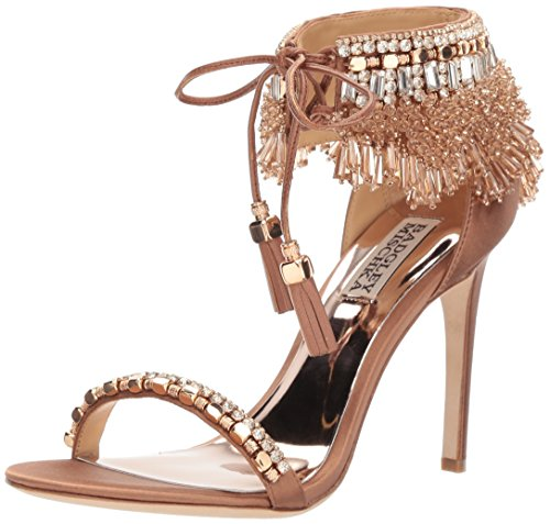 Badgley Mischka Women's Katrina Heeled Sandal, Dark Nude, 9.5 Medium US by Badgley Mischka