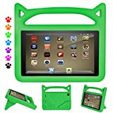 DiHines Flre 7 Kids Edition Tablet Case,Flre 7 Kids Case Light Weight Shock Proof Handle Friendly Stand Kid-Proof Case for All New Flre 7 inch Display Tablet Cover(2015&2017 Release) (Green) For Sale
