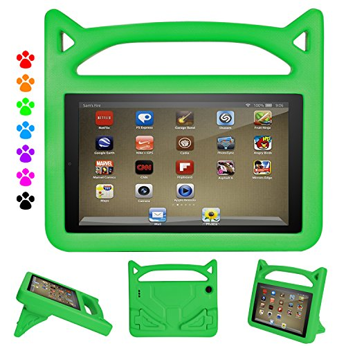 F i r e 7 Tablet Case-Dinines Light Weight Shock Proof Handle Kid-Proof Cover Kids Case for All New F i r e 7 Tablet (Compatible with 5th Generation 2015 / 7th Generation 2017)