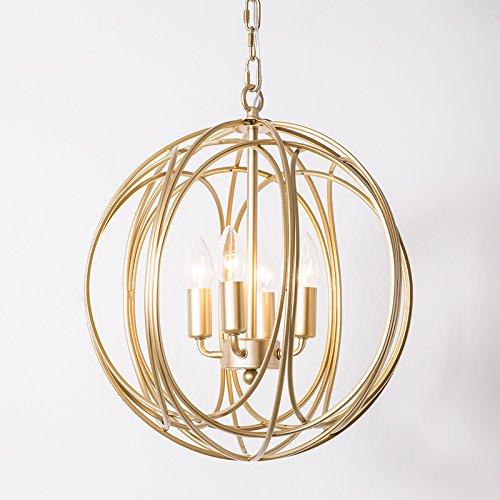 Gold 4 Light Pendant - 9