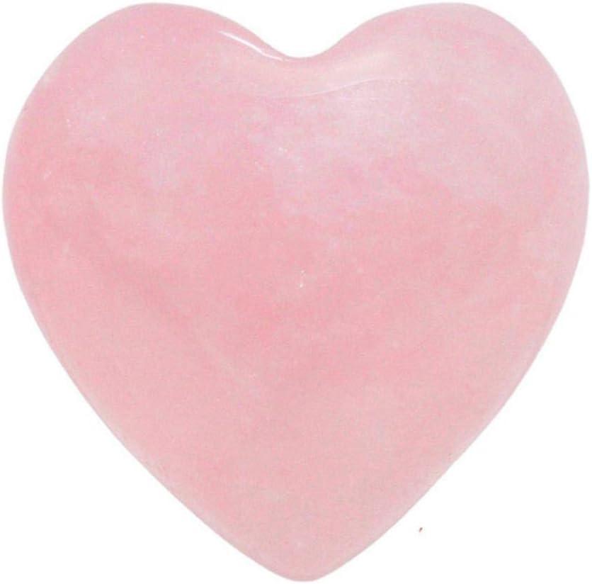 SAKUROO Piedras Preciosas Cristales de Cuarzo Rosa Natural Amor Piedra hinchada en Forma de corazón Amor Curación Cristal Gemstone 2019 Productos, Rosa, 15X15X10Mm