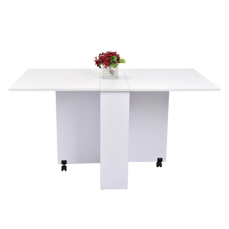 homcom 02-0621 Beistelltisch, Holz, weiß, 80 x 80 x 74 cm: Amazon.de ...