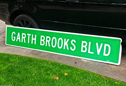 GARTH BROOKS BLVD original REAL Yukon Oklahoma street sign Man Cave Game Room ()