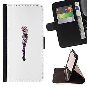 Momo Phone Case / Flip Funda de Cuero Case Cover - White Girl Femme Chick - Samsung ALPHA G850