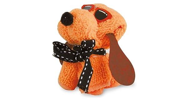 Toalla en forma perrito con gafas. Pack de 6 unidades (Naranja): Amazon.es: Hogar