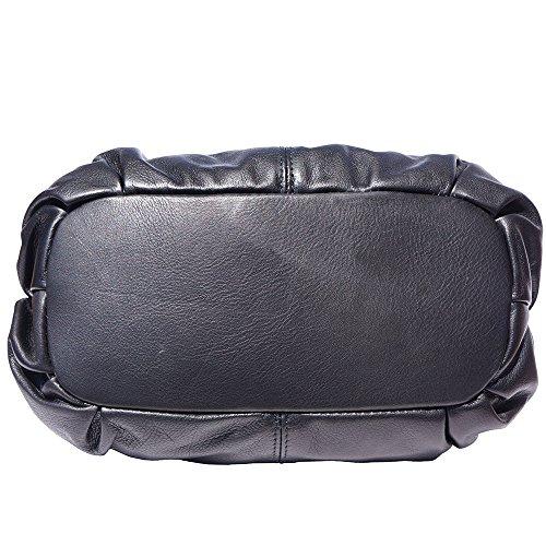 réglable avec à cuir Noir en bandoulière main 8655 Sac une qZwBgq