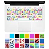"""DHZ Unique Ultra Thin Durable Keyboard Cover Silicone Skin for MacBook Pro 13"""" 15"""" 17"""" (with or w/out Retina Display) iMac and MacBook Air 13"""" (Color Candy Big Font)"""