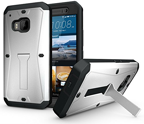 ECOZ Heavy Duty [SHIELDX-PRO] Hybrid Full-body Protective Case with Front Cover and Built-in Screen Protector / Impact Resistant Bumpers Cover for HTC One M9 - Case Protective Ezgear