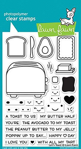 (Lawn Fawn Clear Stamp Set - Let's Toast)