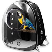 Shiningirl Pet Parrot Cat Dog Carrier Backpack Space Capsule Bubble Transparent 360¡ã Sightseeing Backpack Birds Travel…