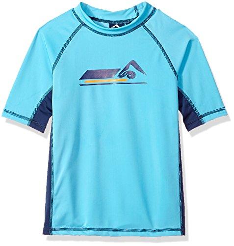 - Kanu Surf Toddler Boys' Hangout UPF 50+ Sun Protective Rashguard Swim Shirt, Aqua, 4T