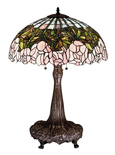 Meyda Tiffany 30513 Cabbage Rose Table Lamp, 31