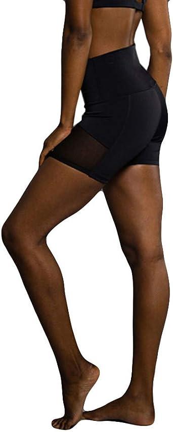 Imagen deColor SóLido De Las Mujeres Leggings Leggings Caderas Femeninas Deportes Pantalones De Yoga Delgado Tres Pantalones