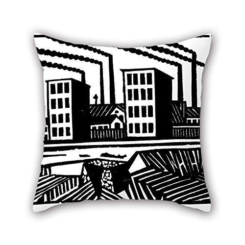 [The Oil Painting Fabryka Throw Pillow Covers Of ,16 X 16 Inches / 40 By 40 Cm Decoration,gift For Wedding,car Seat,her,bench,birthday,teens Boys (two] (0-3 Months Baby Halloween Costumes Uk)