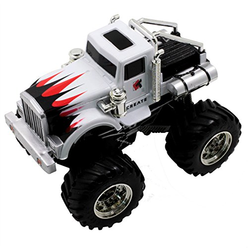 Micro Crawler Rock - BestTopPlus 1:43 Scale Remote Radio Control Off Road Car High Speed Off Road Vehicle with Four Large Strong Wheel, Super Electric Rock Crawler RC Car for Boy ( Battery Charging, White)