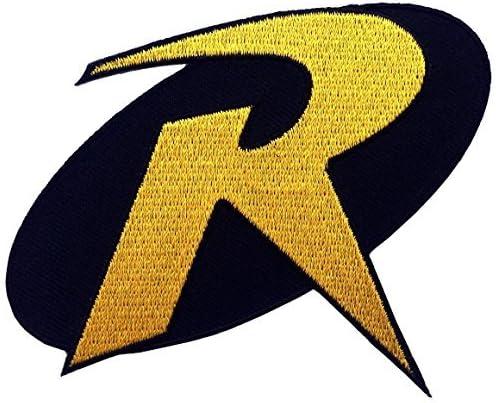 1 X ROBIN R Uniform Logo BATMAN Animated Series 3.5 Costume Patch
