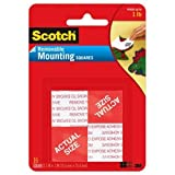 Scotch(R) Removable Mounting Squares , 1 x 1 Inches, 16 squares per pack, 4-Packs