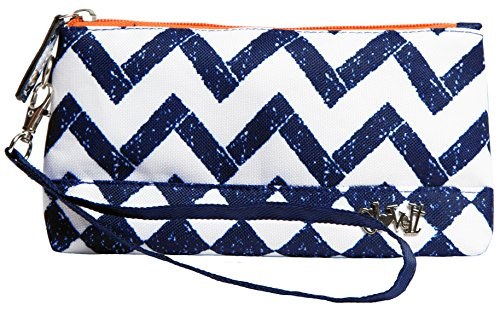 Glove It Women's Wristlet Wallet Zipper Wristlets for Women - Ladies Wristlet Purse - Removable Strap for Keychain - Make Up, Cell Phone, Smartphone, Travel, Credit Cards - 2018 Coastal Tile