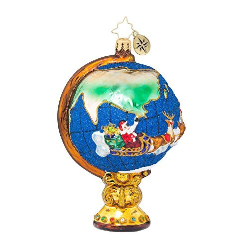 Christopher Radko Circumnavigator Santa Christmas Ornament