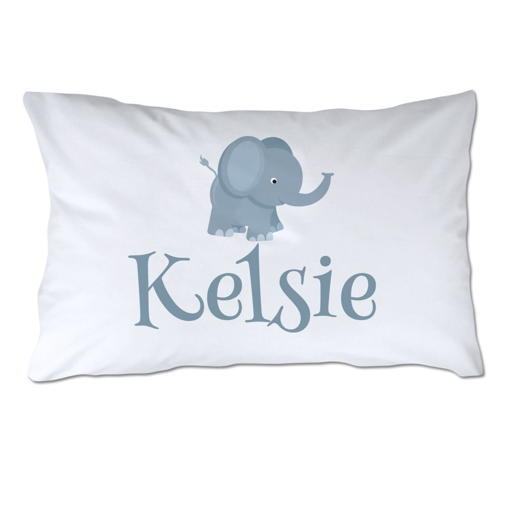 Pattern Pop Personalized Toddler Size Elephant Pillowcase with Pillow Included by Pattern Pop