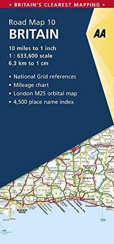 Britain Road Map (AA Road Map Britain) (Aa Road Map)