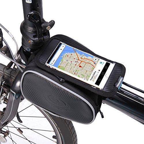 """Kapoo Fahrradtasche Rahmentaschen Fahrrad Handy Tasche fuer Mountain Bike geeignet für Handy mit Größe unten 5,5"""""""