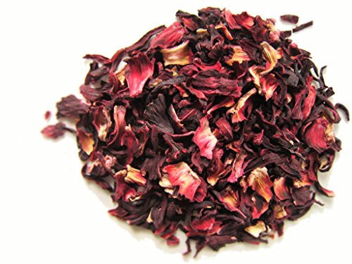 Mexican Hibiscus Flower 100% Natural Premium Quality. Triple Cleaned (16 ( 1 Lb. )) ()
