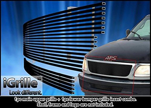 1998 Black Billet Grille (Black Stainless Steel eGrille Billet Grille Grill For 97-98 Ford F-150 2WD Combo)
