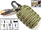 Holtzman's Survival Kit Gorilla Egg : 550 Paracord Grenade Emergency Kit - Your Survival Pack Has an Upgraded Military Grade Carabiner Snap Hook Is Stuffed with 18 Tools