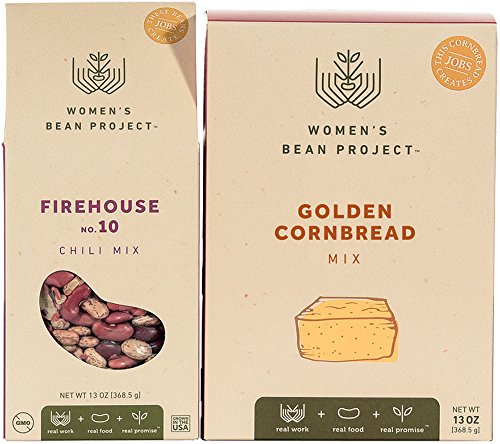 Women's Bean Project Spicy Chili Bean and Cornbread Gourmet Food Gift Bundle, 2 Items