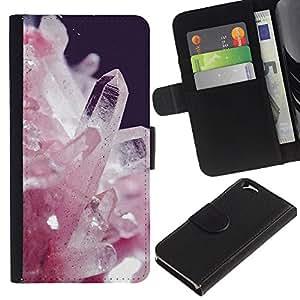 KingStore / Leather Etui en cuir / Apple Iphone 6 / Cristales blancos Precious Stones Espíritu;