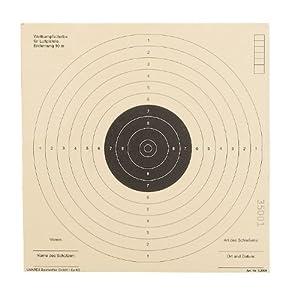 Schießscheiben 17 x17 cm, 250 Stück