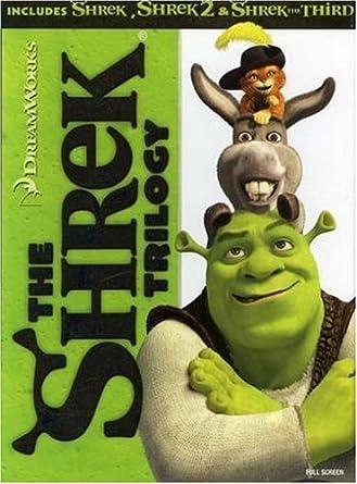 Amazon Com The Shrek Trilogy Shrek Shrek 2 Shrek The Third Full Screen Edition Movies Tv