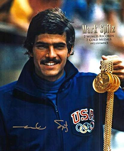 Autographed Signed Mark Spitz 8x10 Photo Gold Medal Winner - Certified Authentic
