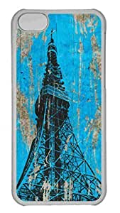 Customized iphone 5C PC Transparent Case - Tokyo Tower Personalized Cover