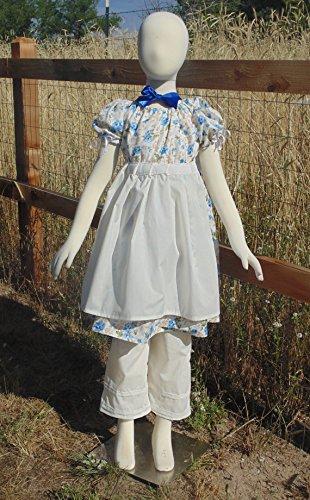 Girls 5-8 Adjustable Pretty in Blue prairie dress