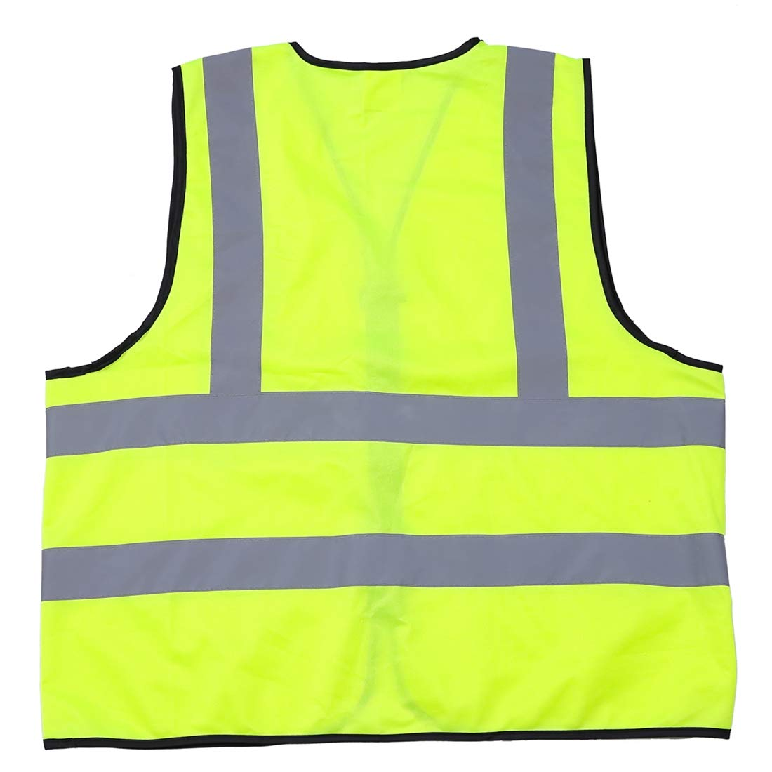 Bright Breathable Polyester fabric,EN-471 standard,360/°High Visibility ,no pockets Extra Large Neon Yellow IDOU High efficiency Safety Reflective Vest,Wide Reflective Silver Strip
