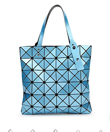 Lady moda hombro Bag silver Lingge light Diamond de blue BAO Bolso Bag Geometry de Bolso la Personalidad zqtfOw8