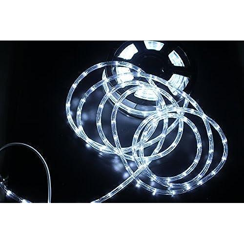 pysical 110v 2 wire waterproof led rope light kit 50ft15m for background lightingdecorative lighting christmas lighting white