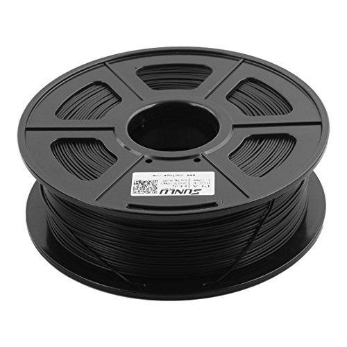 eDealMax PLA 1,75 mm Dimetro del Cable 1kg impresora 3D de filamentos de accesorios SUNLU autorizado Negro