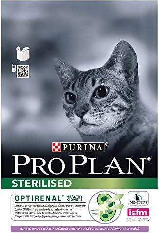 PURINA Pro Plan Comida Seco para Gato Esterilizado con Optirenal, Sabor Pavo - 3 Kg: Amazon.es: Productos para mascotas