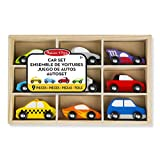 Melissa & Doug 13178 Wooden Cars Vehicle Set in Wooden Tray
