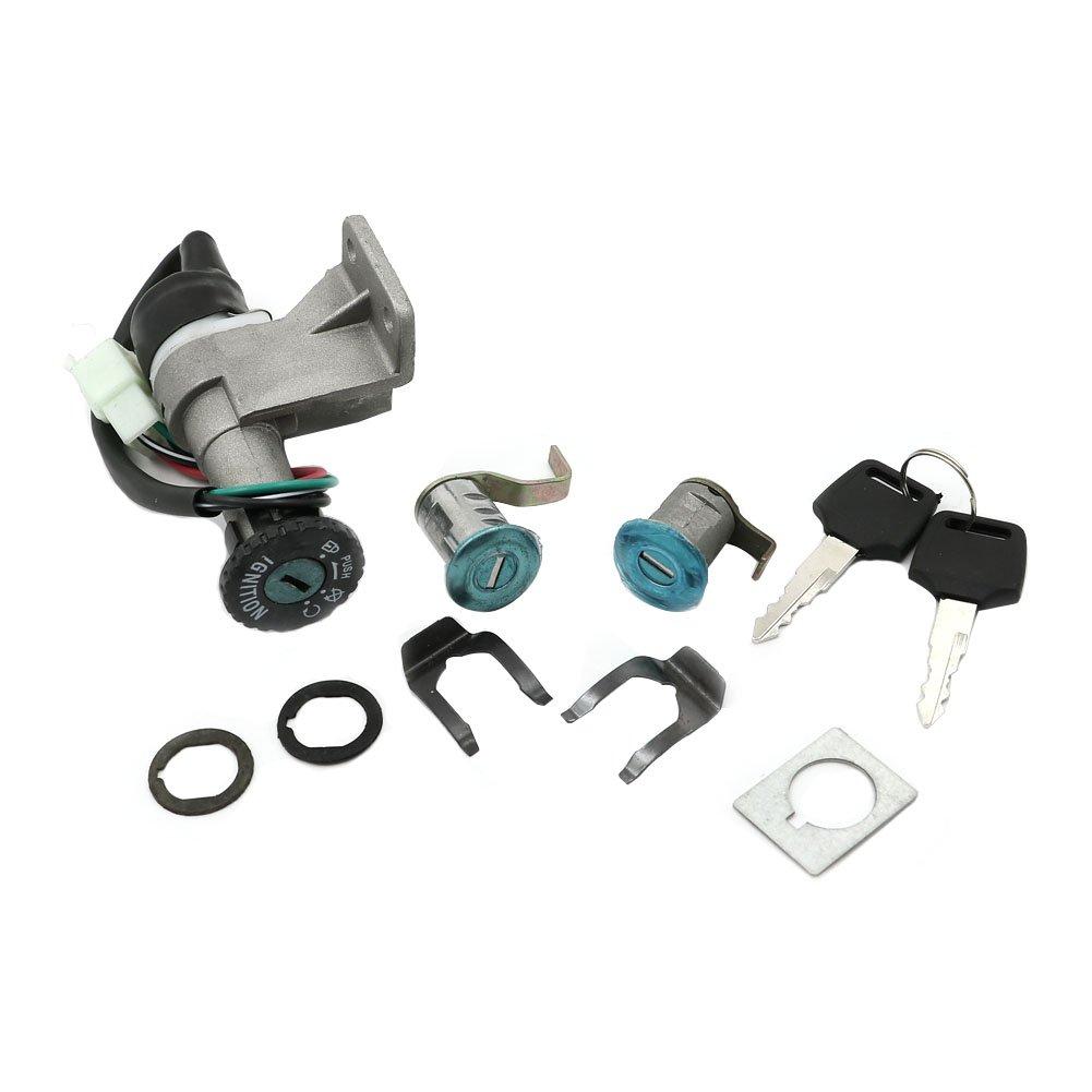 Alpha Rider Ignition Switch Lock Seat lock Keys Set For Moped 50 125 150 GY6 Scooter JMstar Breeze | Longbo LB50QT-6 | MotoFino MF50QT MF5